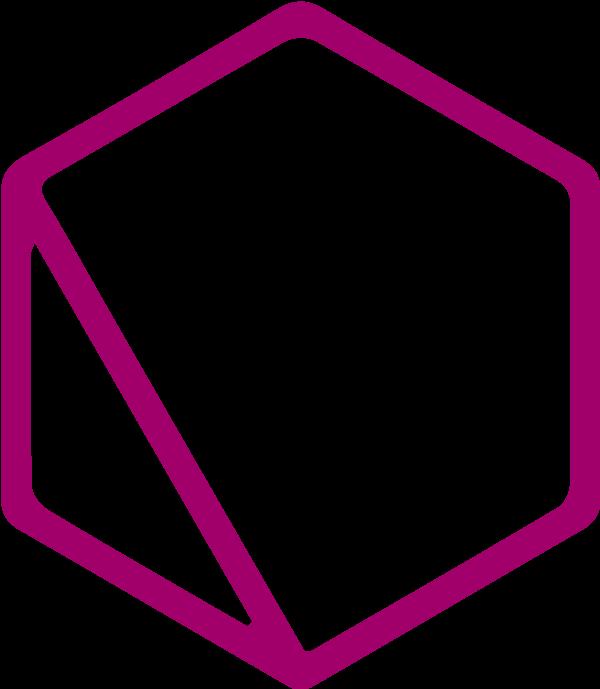 Quantumrun purple hexagon