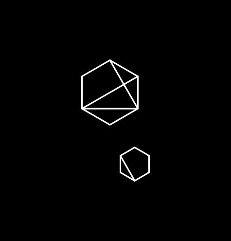 Quantumrun double hexagon white